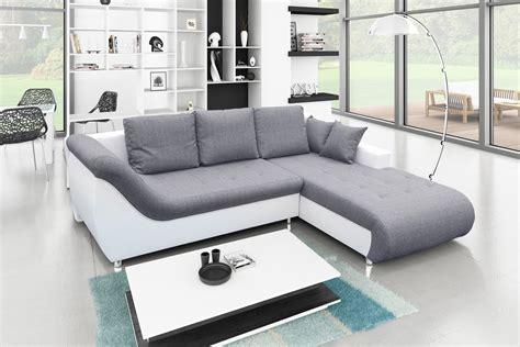 canapé angle confortable canap 233 d angle convertible tudor gris blanc achat