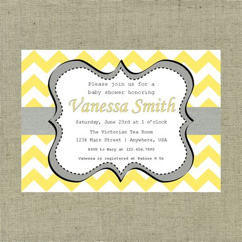 grey and white baby shower invitations yellow and gray baby shower invitations gangcraft net