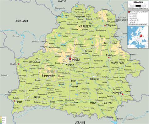 political map of belarus ezilon combelarus physical map