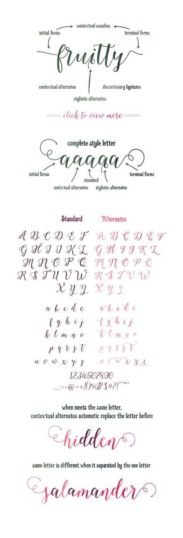 25  best ideas about Cursive fonts alphabet on Pinterest