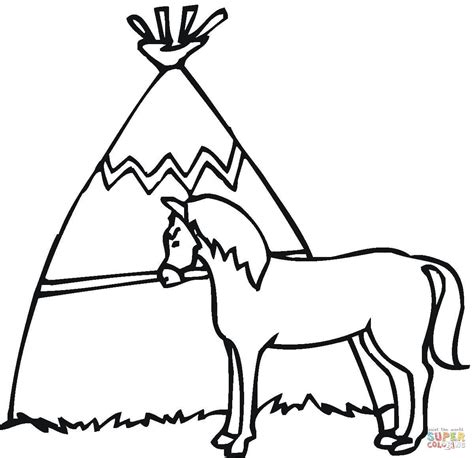 wigwam   horse coloring page  printable