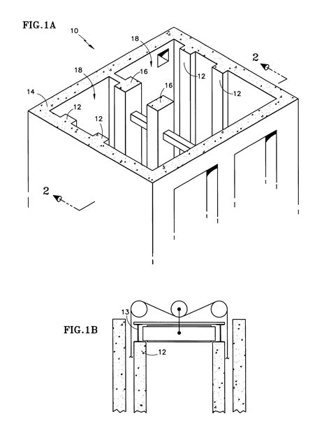 rails layout guide patent us6578673 concrete elevator rail and guidance