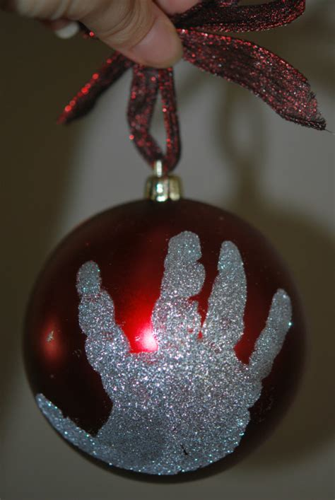 diy holiday footprint ornaments a perfect holiday gift