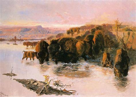 Home Decor Buffalo The Buffalo Herd Digital Art By Charles Russell