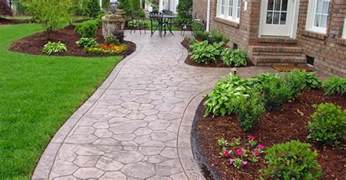 walkway ideas concrete sidewalk design decorative options for a concrete walkway the concrete network