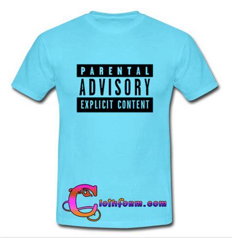 Tshirt White Parental Advisory parental advisory t shirt