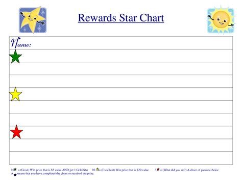 search results for free printable reward charts