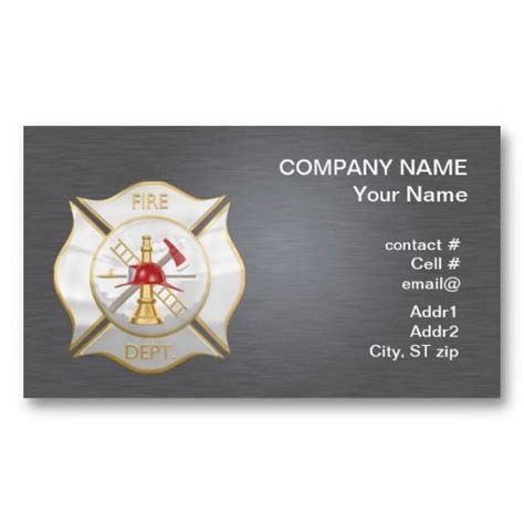 firefighter business card template 20 best department business cards images on