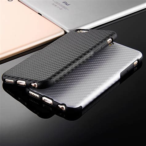 Matte Iphone 7 Plus Soft Black Anti Minyak Casing Hardcase 1 2017 new durable fiber carbon soft for iphone 6 6s 4