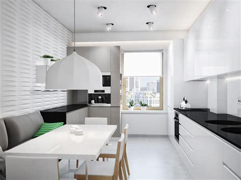 black white kitchen diner interior design ideas