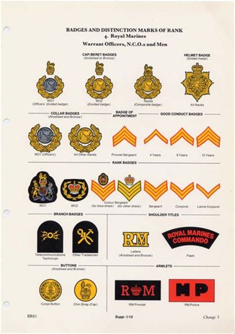 british royal marines insignia new hair navy uniform regulations