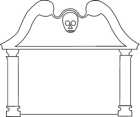 tombstone template printable clipart best