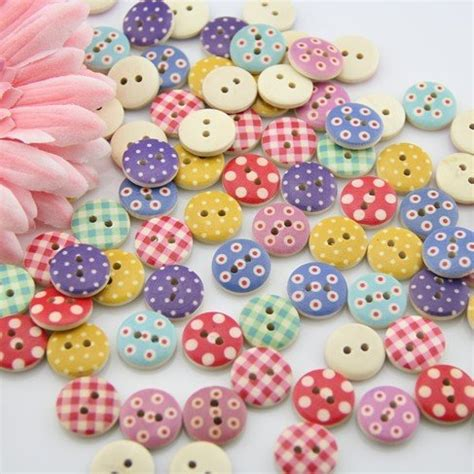 craft in bulk 100pcs mixed wooden buttons in bulk buttons for crafts