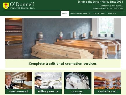 o donnell funeral home inc funeral allentown pa