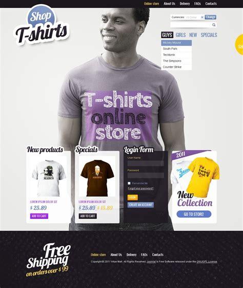 T Shirt Shop Virtuemart Template Web Design Templates Website Templates Download T Shirt T Shirt Website Template Free