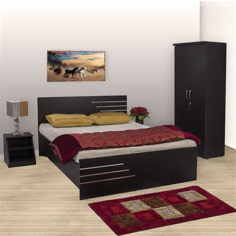 bharat lifestyle amsterdam bedroom set bed wardrobe side table buy bharat