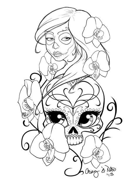307 best skulls images on 307 best images about skull day of the dead coloring on
