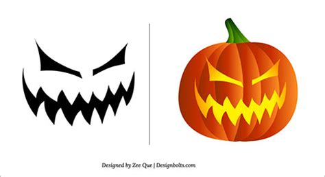 easy scary pumpkin carvings easy scary pumpkin carving stencils