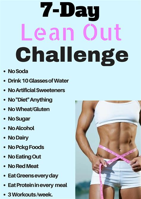 7 day lean out challenge easy crossfit and workout