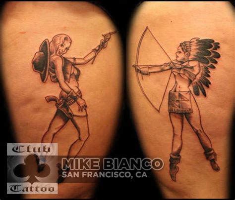 mikebianco pinup cowgirl indian