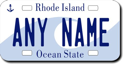 Vanity Plates Ri by Rhode Island Replica State License Plate For Bikes Bicycles Atvs Cart Walkers Motorcycles