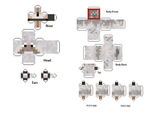 Minecraft Papercraft Wolf - 52 best images about minecraft paper model templates on