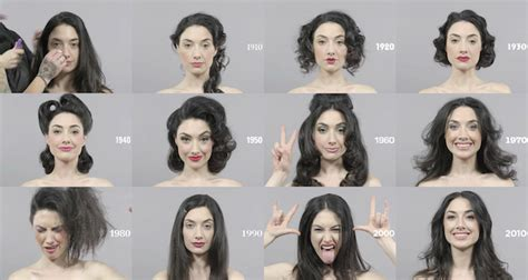 100 years hairstyle images 100 years of changing beauty makeup and hairstyles in 1