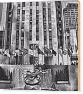 rockefeller woodworking rockefeller center black and white photograph by dan sproul