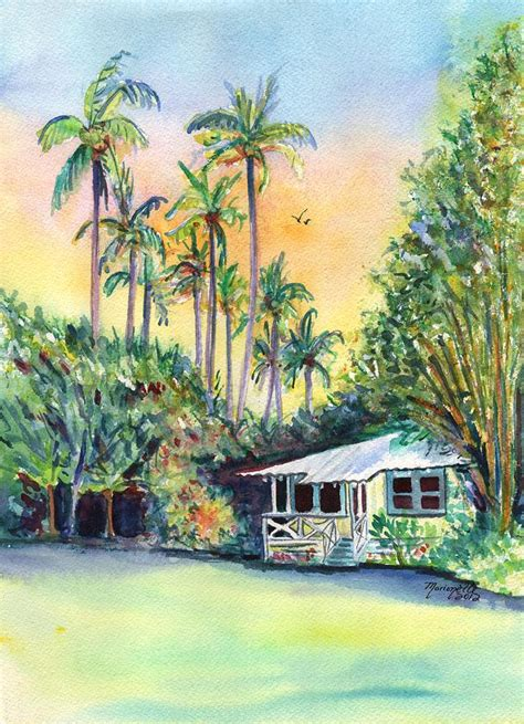 Kauai Cottages by Kauai West Side Cottage Painting By Marionette Taboniar