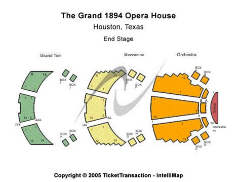 grand opera house seating plan grand 1894 opera house seating chart
