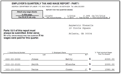 ga how to e file quarterly tax and wage report cwu
