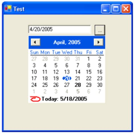 design calendar in vb net custom calendar control in vb net