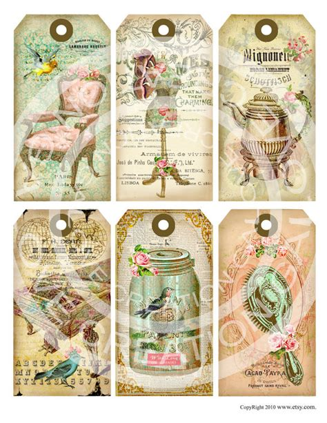 gift tags vintage clipart finders items similar to vintage shabby chic antique