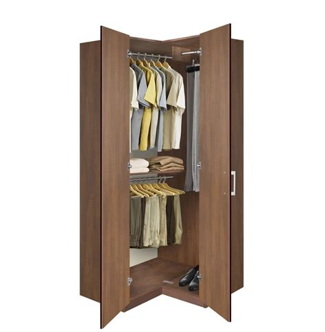 armoire closet wardrobe bella corner wardrobe corner closet w three hangrods contempo space