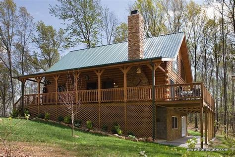 house plans built into a hill heavenly haven is a log home in tennessee by honest abe log homes