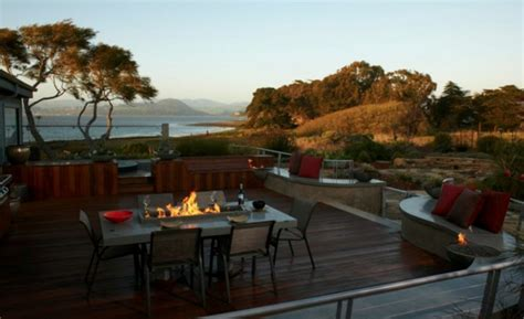 offene feuerstelle terrasse moderne ethanol feuerstelle sorgt f 252 r romantik