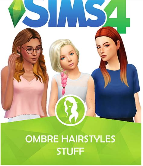 sims 4 ombre hair sims 4 hairs choco sims ombre hairstyles stuff