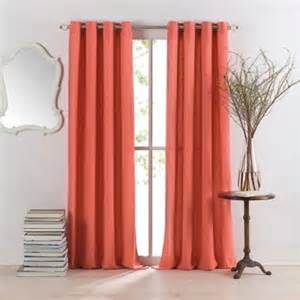 coral colored curtains buy coral curtain panels from bed bath beyond