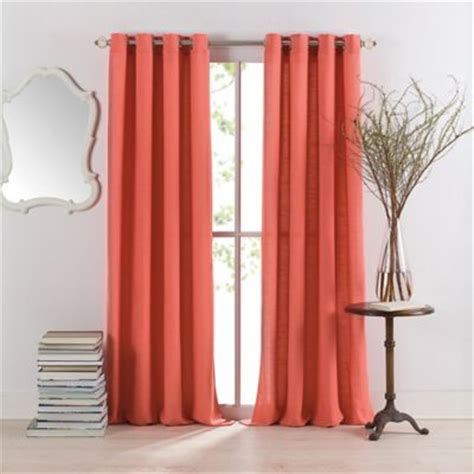 salmon colored drapes buy coral curtain panels from bed bath beyond