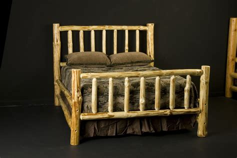 log bed frames custom wilderness log bed frame by viking log furniture