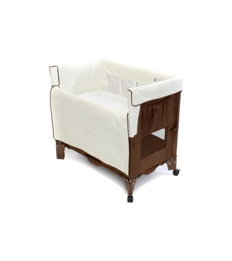 arm s reach mini convertible co sleeper in cocoa with