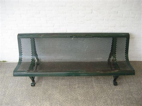 industrial park benches industrial french steel park bench 1950s for sale at pamono