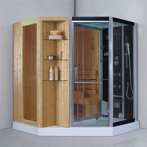 2 person use tempered glass sauna room steam shower cabins