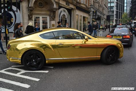 bentley gold gold bentley in london