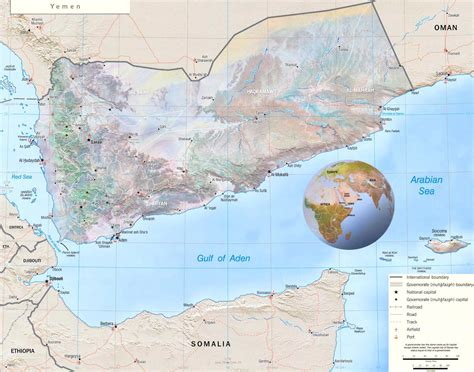 map  yemen republic  yemen maps mapsofnet