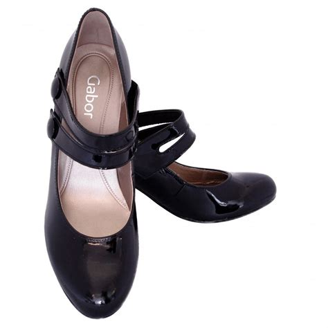 gabor shoes tegan womens court shoe in black