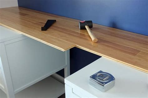 how to create a custom bamboo countertop in a bathroom bamboo flooring to make a counter house pinterest
