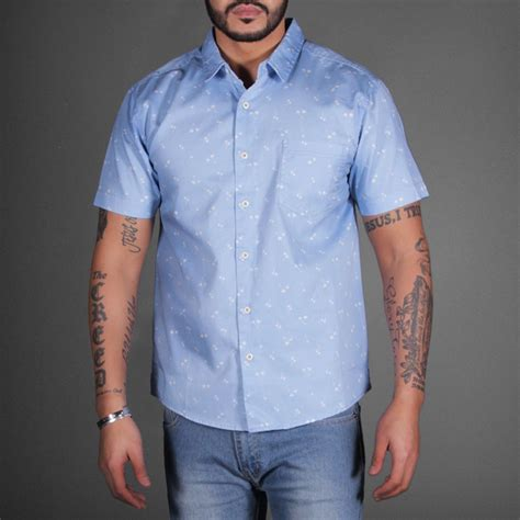 pattern light blue shirt sky blue pattern heaven short sleeve shirt wehustle