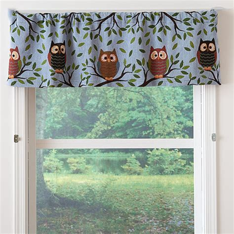 owl window curtains owl quintet tapestry valance 54x15 boscov s