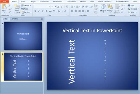 Vertical Text In Powerpoint 2010 Template Powerpoint 2010